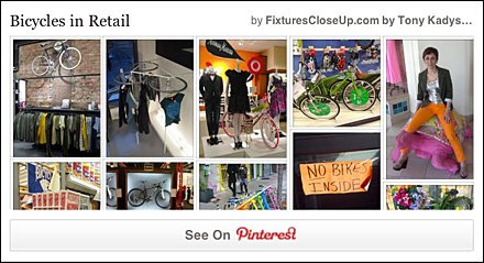 Bicycle and Bike Fixtures In Retail Pinterest Board