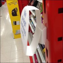 Circular Belly Band on Shelf Upright Detail