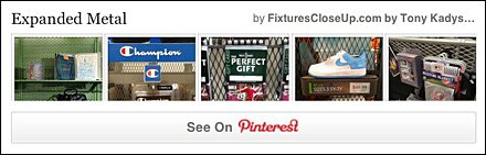 Expanded Metal Pinterest Board for Fixtures Close Up