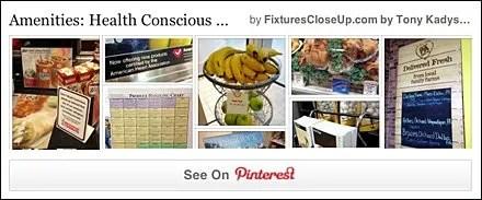 Health Conscious Signage Pinterest Board for FixturesCloseUp
