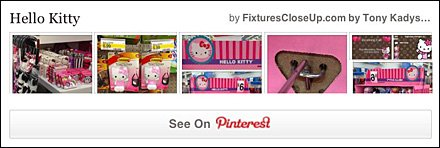 Hello Kitty Pinterest Board for FixturesCloseUp