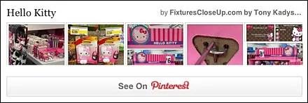 Hello Kitty Pinterest Board for FixturesCloseUp