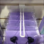Narrow Flatback Slatwall Loop Hooks Detail