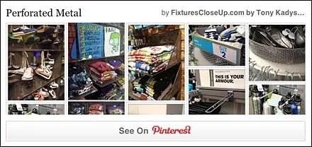 Perforated Metal Pinterest Board for FixturesCloseUp