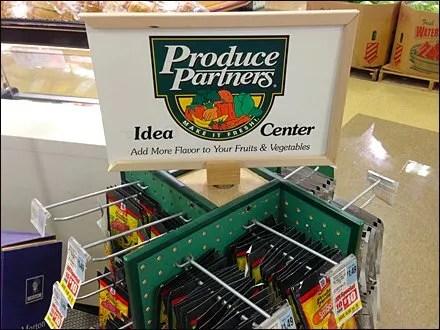 Produce Oartners on Pegboard Spinner