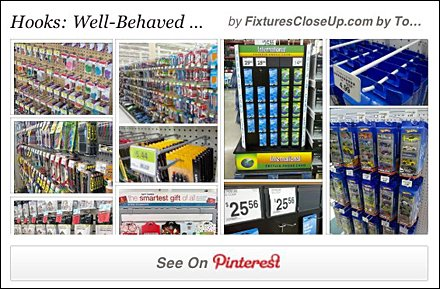 Well-Behaved Hook Displays Pinterest Board Fixtures Close Up