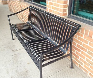 Bench Median Strip Built-in 1
