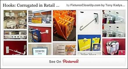 Corrugated Hooks FixturesCloseUp Pinterest Board