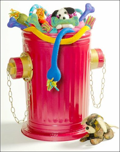 Fire Hydrant Bulk Bin Pet Toy Display