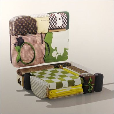 Invisiible Louis Vuitton Luggage Aux