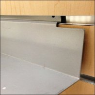 Metal Slatwall Ledge CloseUp Detail