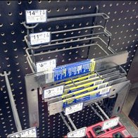 Nested Squares Pegboard Rack 1