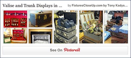 Valise and Trunk Displays FixturesCloseUp Pinterest Board