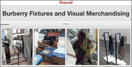 Burberry Fixtures and Visual Merchandising