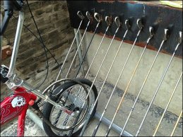Golf Club Bike Rack 3