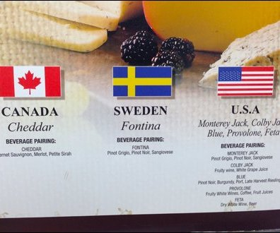 International Cheese Pairing Closeup