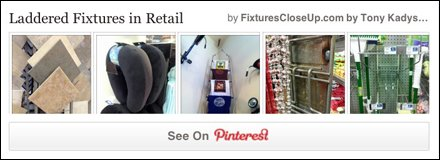 Laddered Fixtures in Retail Pinterest Board for FixturesCloseUp