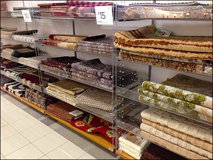 Mats in Clear Display Rack