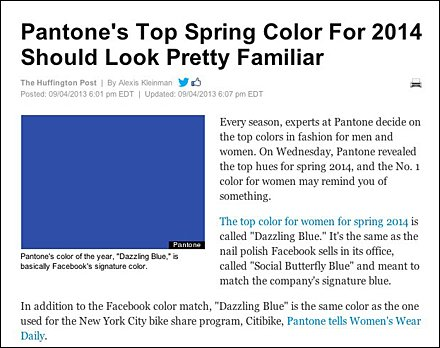 Pantone Dazzling Blue Spring Color For 2014