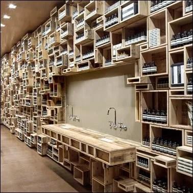 Wood Box Merchandising Intricacy