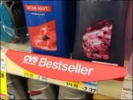 Hinged Best Seller Notice Shelf Overlay