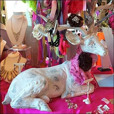 Elk Horn Christmas Gift Display