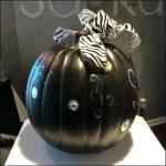 Goth Pumpkin in Black CloseUp
