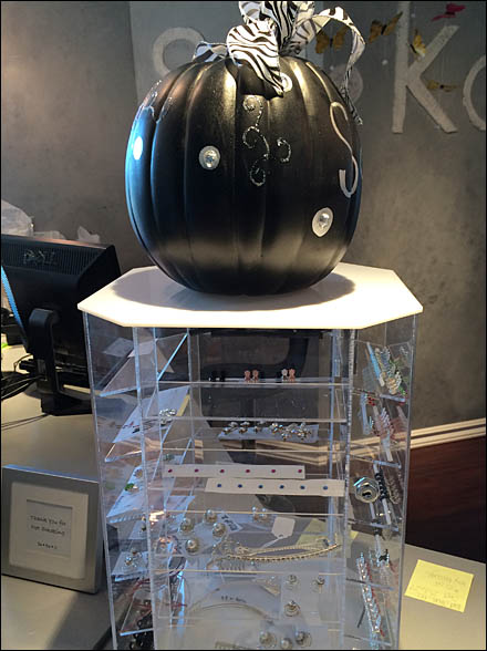 Goth Pumpkin in Black in Jewelry Main
