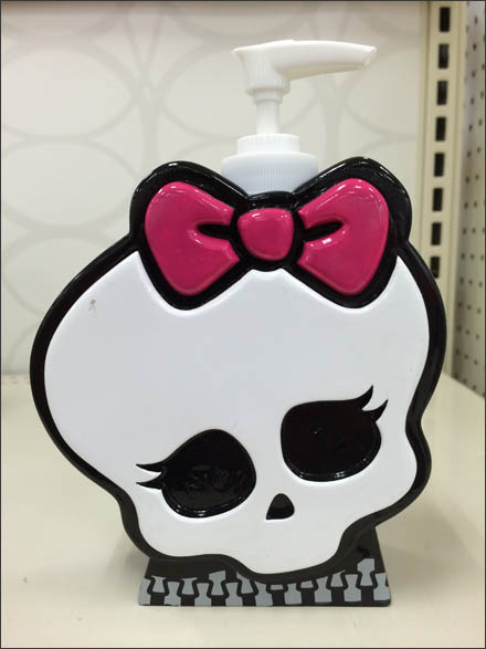 Goth Merchandising And Goth Store Fixtures - Halloween Goth Skull Soap Dispenser Main