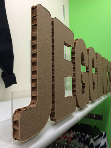 Jeggins True Corrugated Sign Main