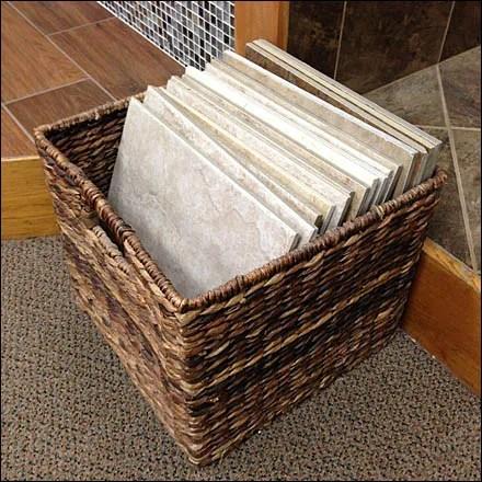 Wicker Basket for Floor Tile Main