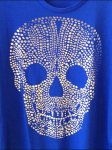 Pointalist Skull T-Shirt Closeup Aux
