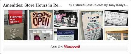 Store Hours In Retail Pinterest Board