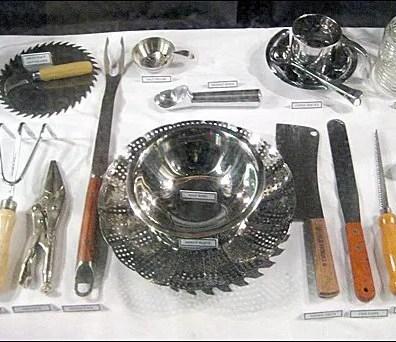 Tools as Holiday Table Setting at Coles Main