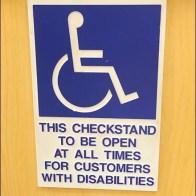 VIP Disabilities Check Stand Main Closeup