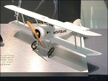 Biplane Celebrates Montblanc Pen