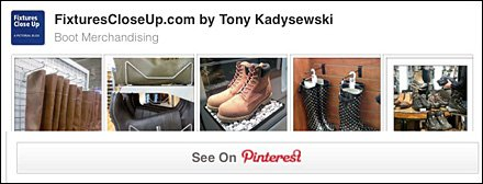 Boot Merchandising Pinterest Board for Fixtures Close Up