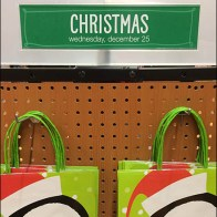 Days Until Christmas Pegboard Display Main