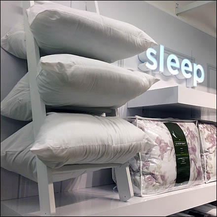 Laddered Pillow Merchandising Display