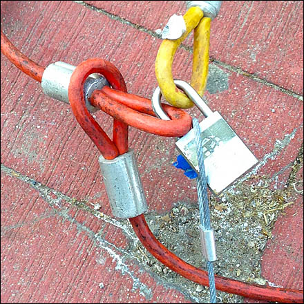 Locking Cable Tethers Detail