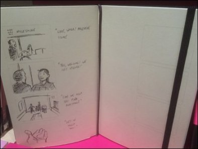 Moleskine Shelf-Edge Storyboard Sell