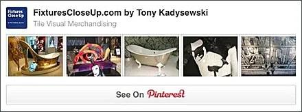 Tile Visual Merchandising Pinterest Board