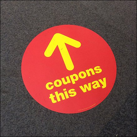 Coupons THis Way Floor Graphic Detail