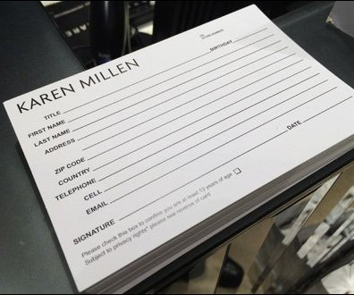 Karen Millen Op-In Customer Card Aux
