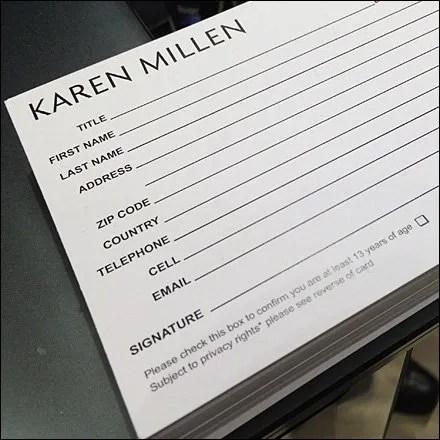 Karen Millen Op-In Customer Card Main2