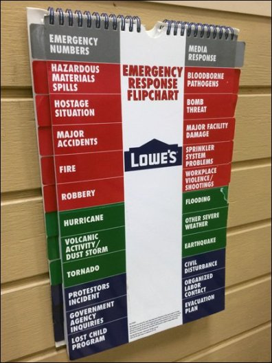 Lowes Emergency Response FlipChart