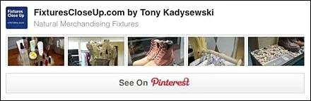 Natural Merchandising Fixtures Pinterest Board
