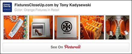 Orange Retail Fixtures Pinterest Board