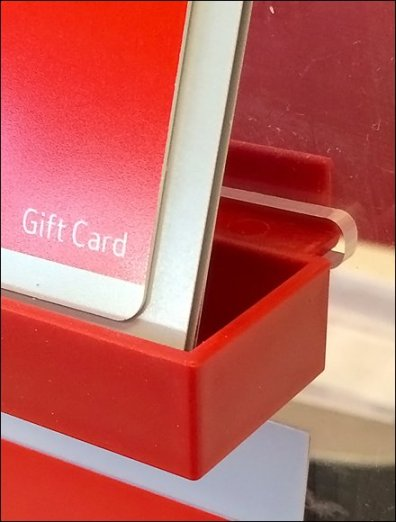 Clear Plastic Slotwall Tray for Gift Cards Xmas 3