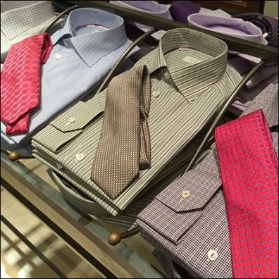 Dress Shirt and Necktie Table Detail Aux